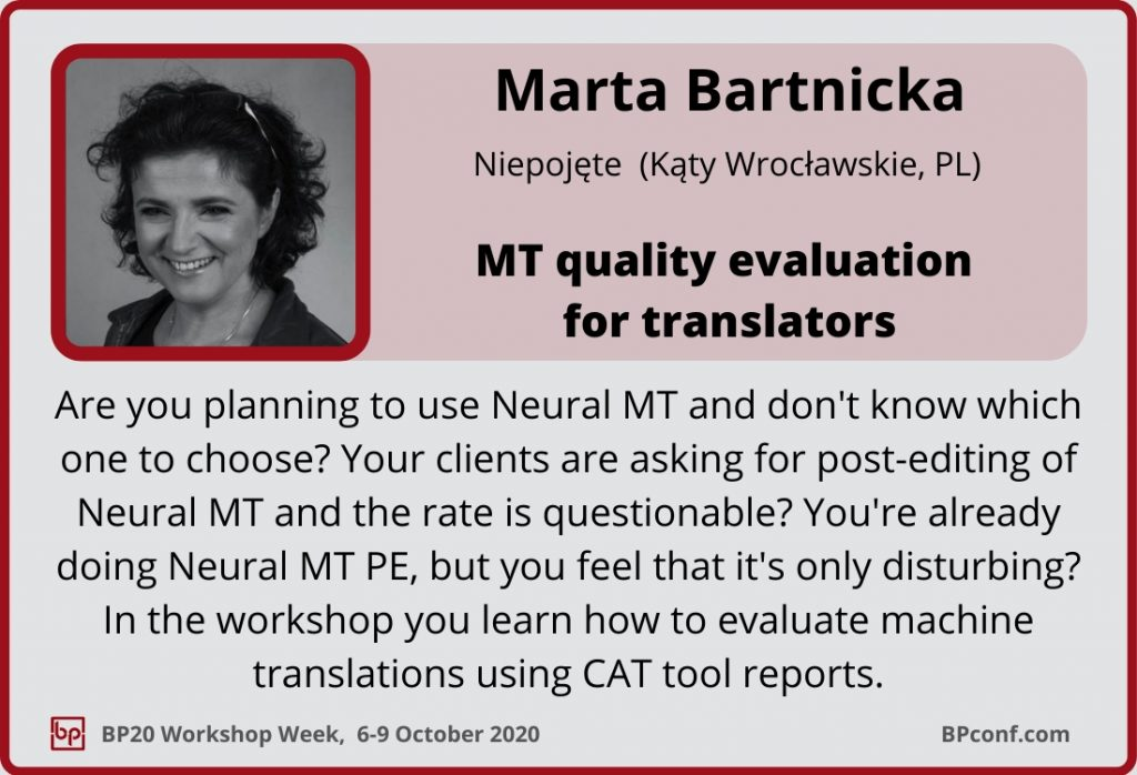 BP20_Workshop Week_Session Card_Marta Barticka_Neural MT evaluation