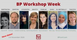 BP Workshop Week for translators 2-6 November