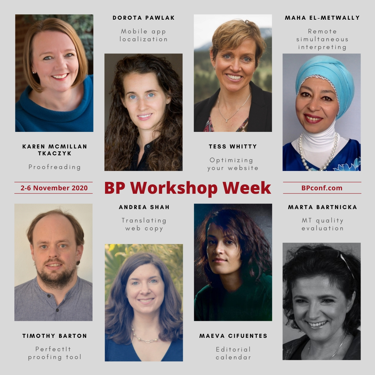 BP20 Workshop Week: 8 recordings