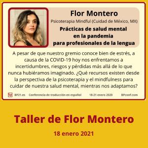 Conferencia de traducción en espanol BP21.es Taller de Flor Montero Salud mental