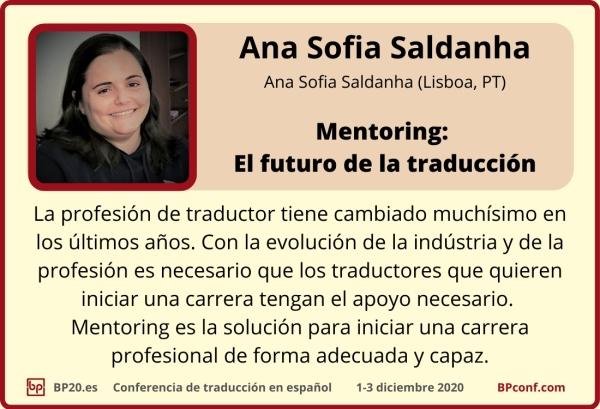 BP20.es  Conferencia de traducción  Ana Saldanha  Mentoring para traductores