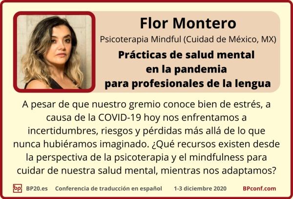 BP20.es Conferencia de traducción : Flor Montero Salud mental para traductores: