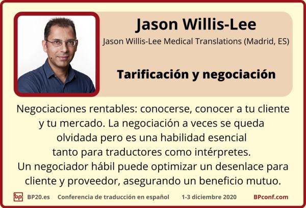 BP20.es Conferencia de traducción Jason Willis-Lee Tarificación y Negociación para traductores