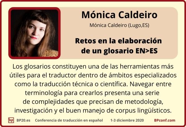 BP20.es Conferencia de traducción   Mónica Caldeiro  elaboración de un glosario para traductores