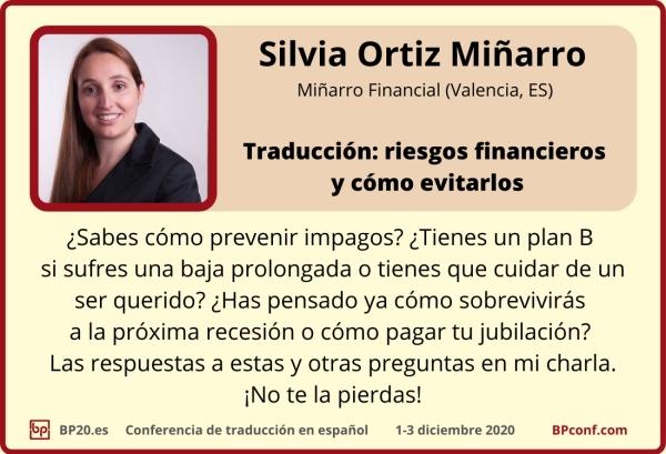 BP20.es Conferencia de traducción : Silvia Minarro :  Riesgos financieros para traductores