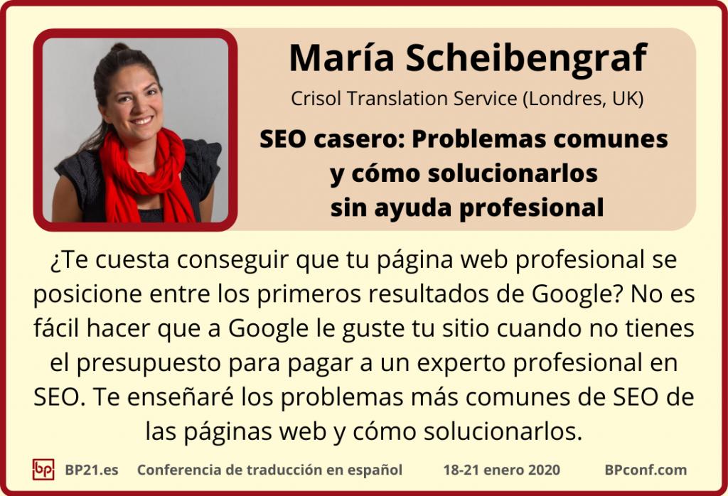 Conferencia de traducci=n en espanol BP21.es :: María Scheibenraf SEO para traductores