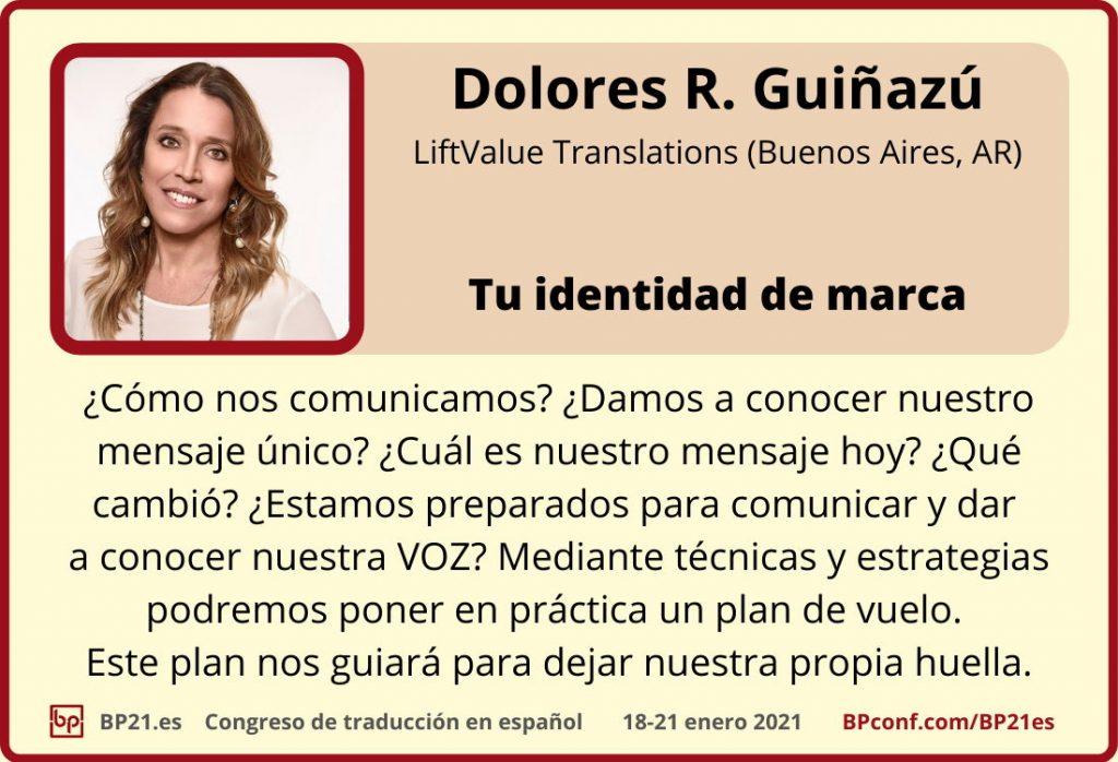 Conferencia de traducción en espanol BP21.es :: Dolores Guinazu ::  Identidad de marca