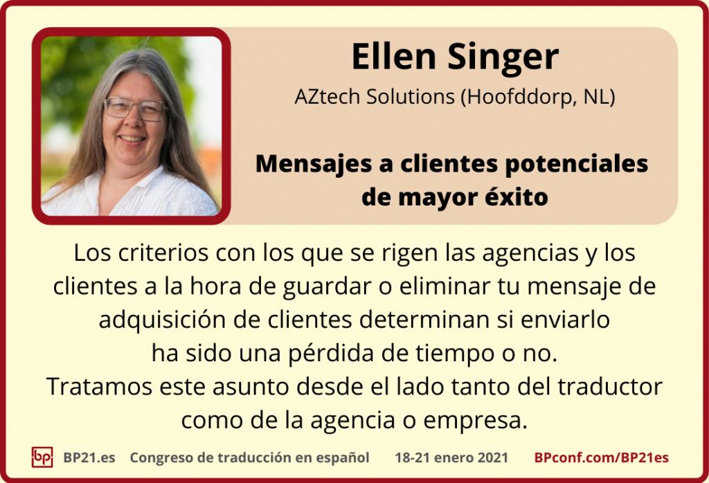 Conferencia de traducción en espanol BP21.es :: Ellen Singer