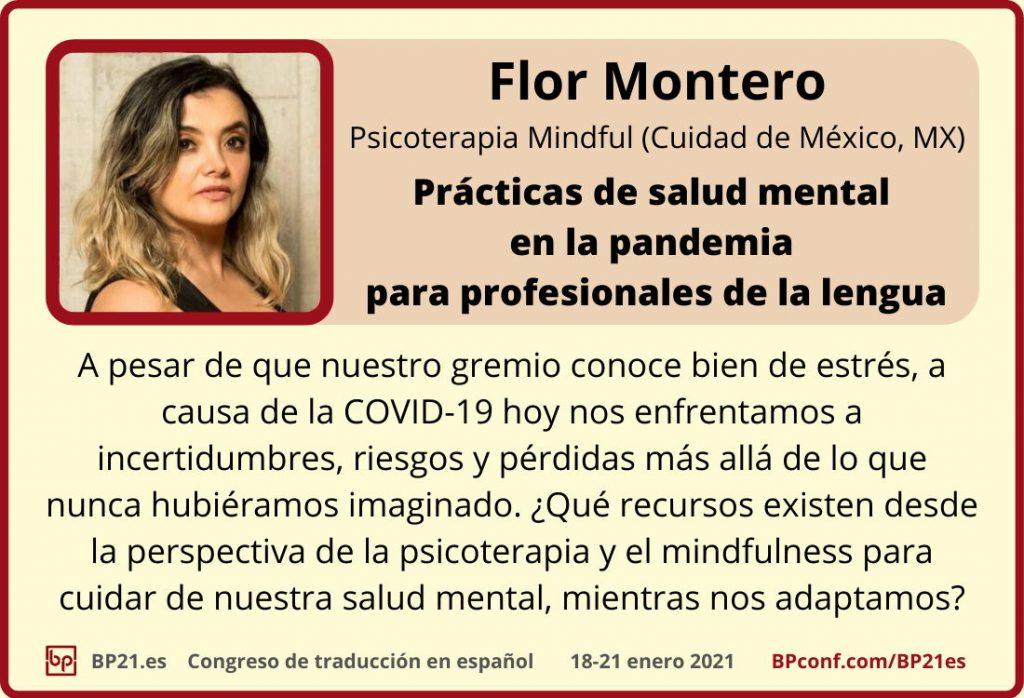 Conferencia de traducción en espanol BP21.es :: Flor Montero :: Taller mental salud