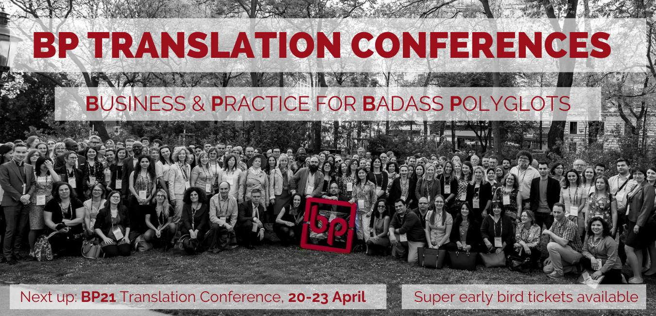 BP21 Translation Conference website header