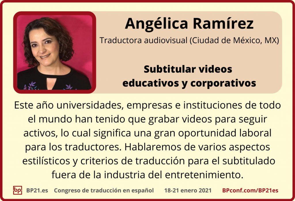 Conferencia de traducción en espanol BP21.es :: Ángelica Ramirez :: Subtitular videos