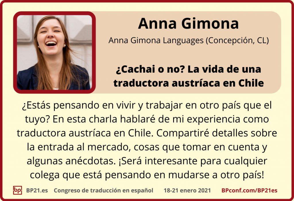 Conferencia de traducción en espanol BP21.es :: Anna Gimona ::  Una traductora en Chile